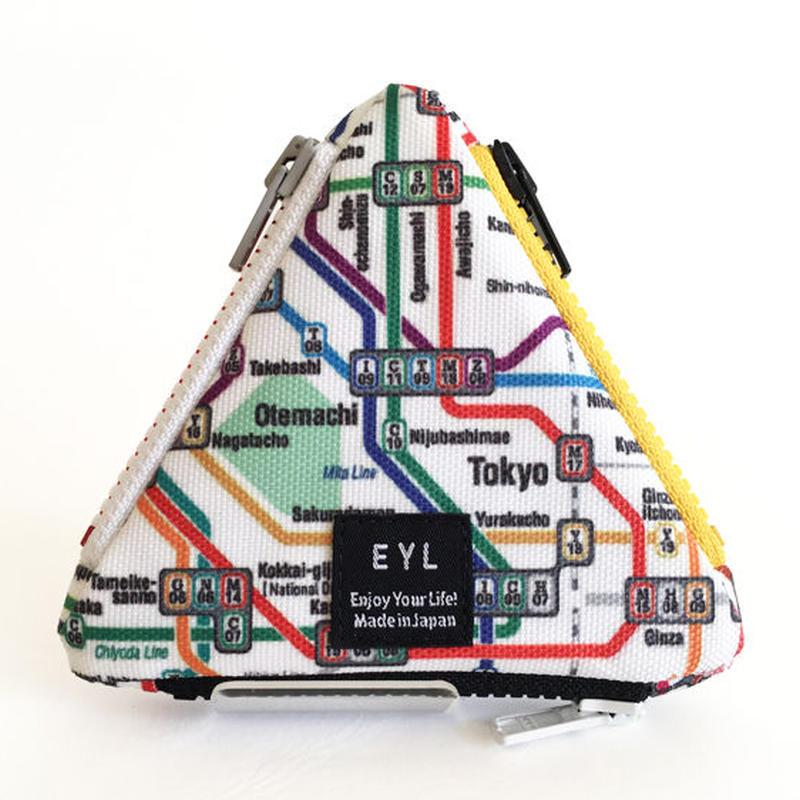 "EYL triangle coin purse ""Tokyo Subway Map"""