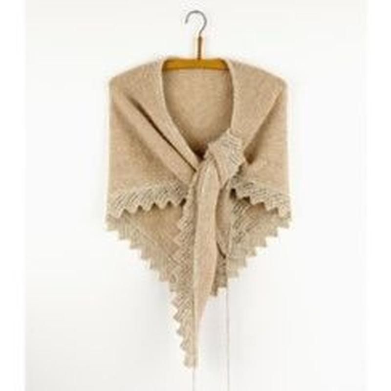 isager Herning Shawl kit (糸と日本語印刷パターン)