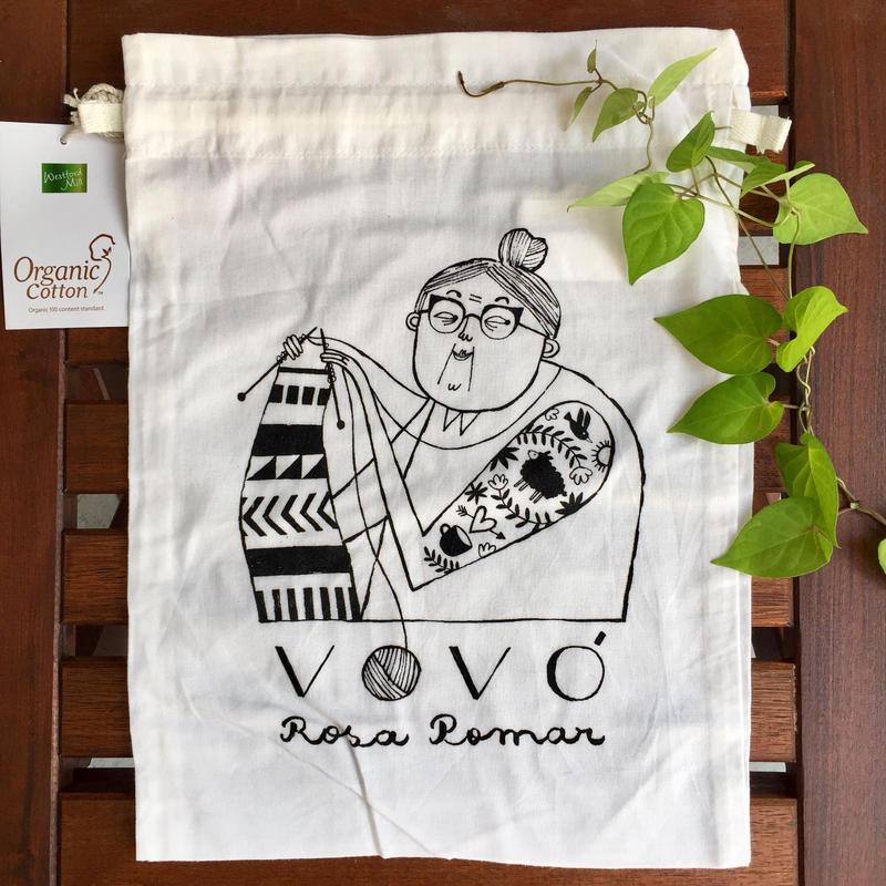 Retorosaria RosaPomar Vovoの巾着