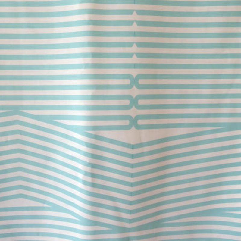 hirune 折れ線ストライプ 水色