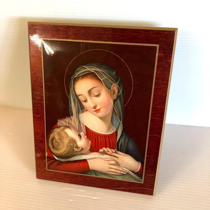 ビンテージ 聖母マリア プレート