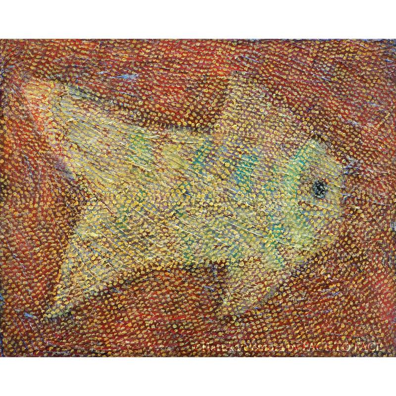植村 遥作品「dry fish」油彩画作品
