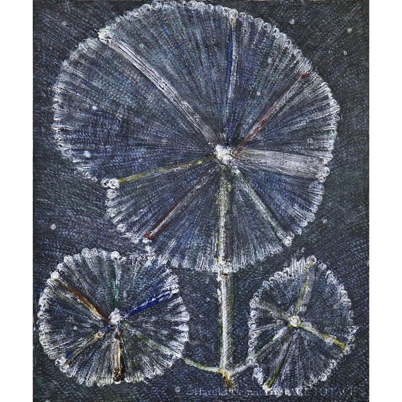 植村 遥作品「車輪の花」油彩画作品