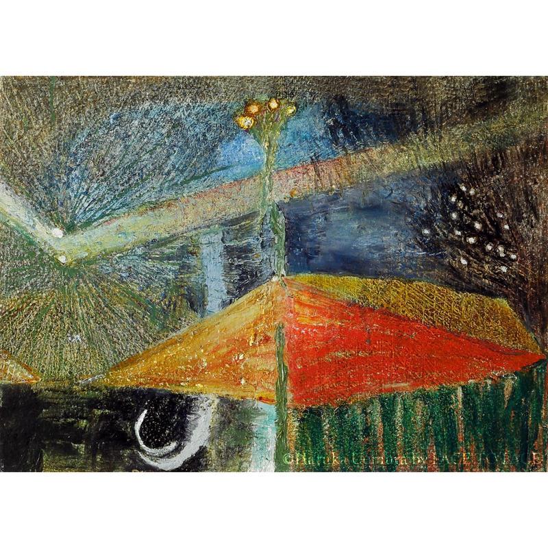 植村 遥作品「雨」油彩画作品