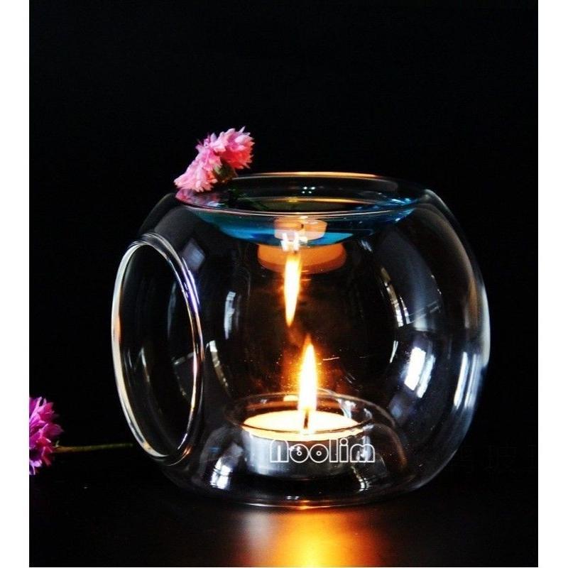 高品質 ガラスオイルバーナー キャンドル アロマセラピー オイルランプ