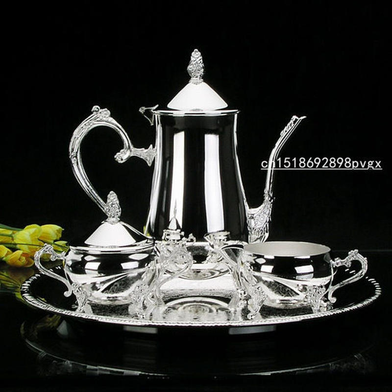 銀メッキのコーヒーセット ティーセット 結婚式やパーティーに最適
