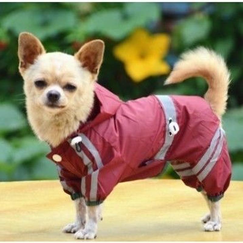 IDEPET 小さな犬のための防水犬の服 雨のコートジャケット 子犬レインコート ヨークシャーチワワなどの服