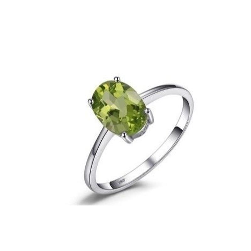 JewelryPalace 1.4ct ナチュラルグリーン ペリドットリング