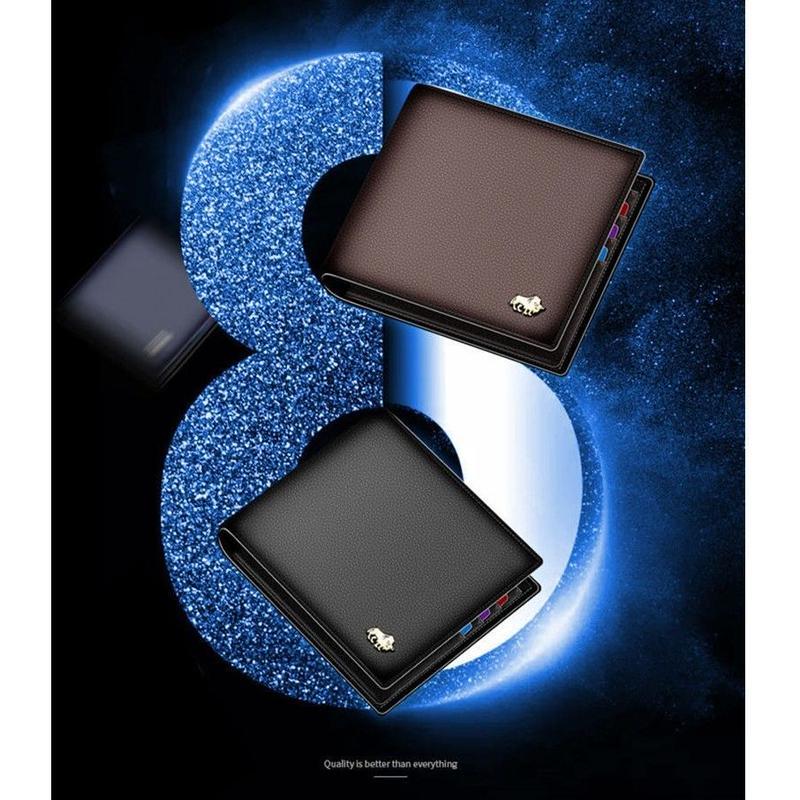 3カラー展開 BISON DENIM 本革ウォレット 2つ折りタイプ シンプルで飽きのこないデザイン