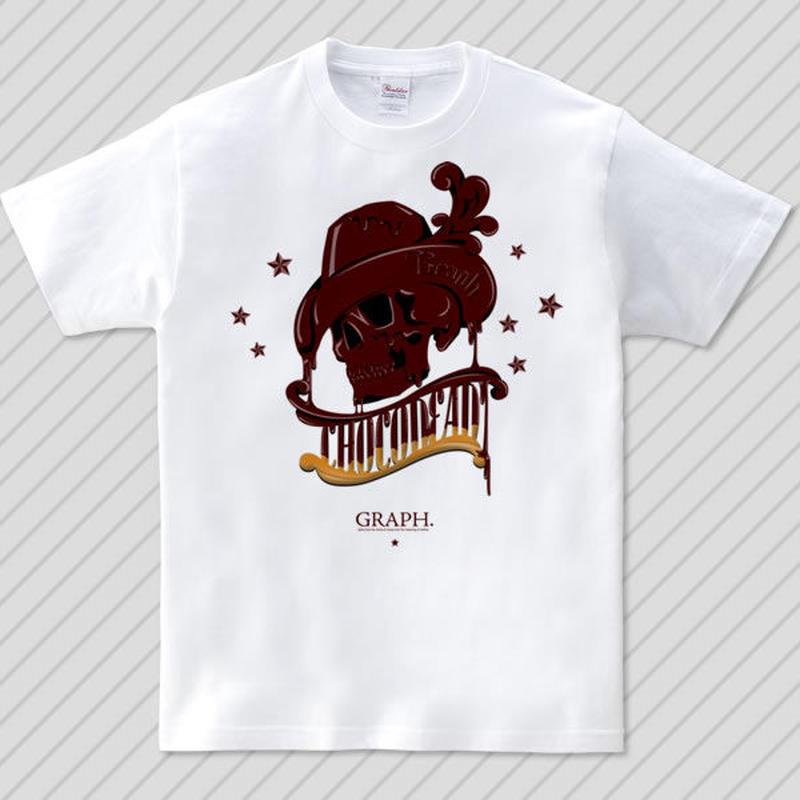 ChocoDead (チョコレートスカルイラストTシャツ)