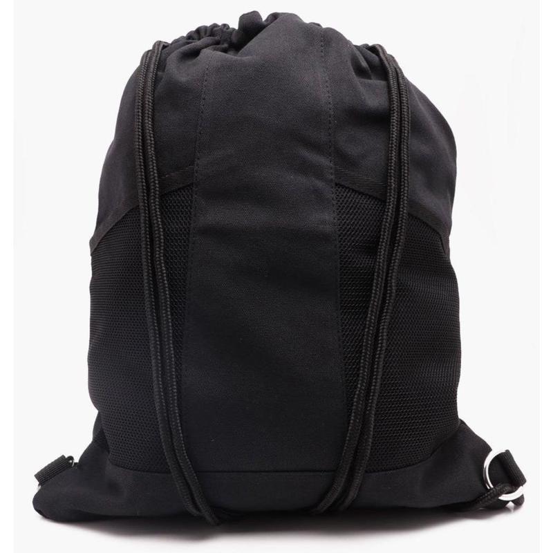 メッシュポケット ナップサック /  ブラック