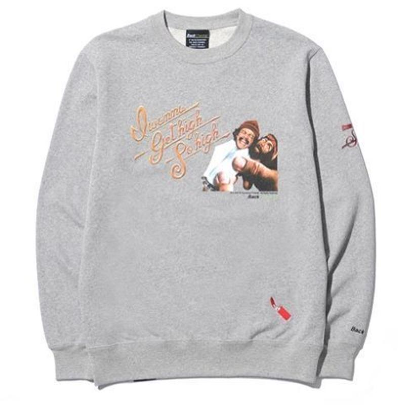 BackChannel-BACK CHANNEL×UP IN SMOKE CREW NECK