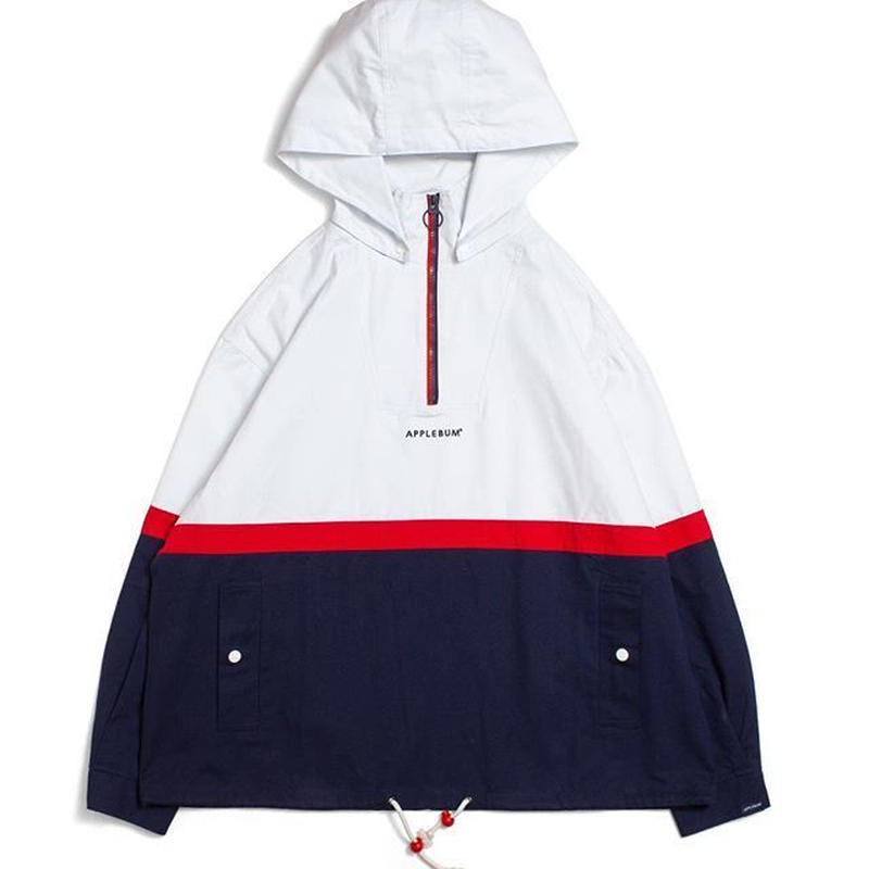 APPLEBUM Tricolor Cotton Anorak Parka