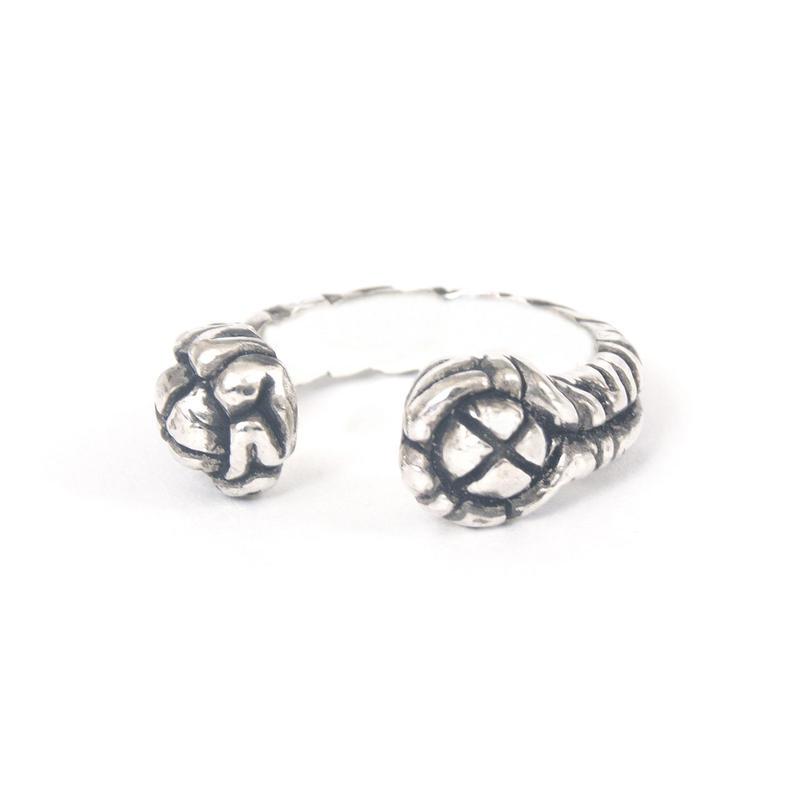 brain ring typeC silver