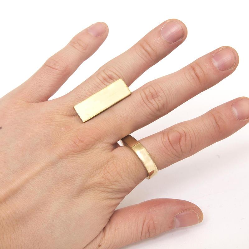 oblong ring brass