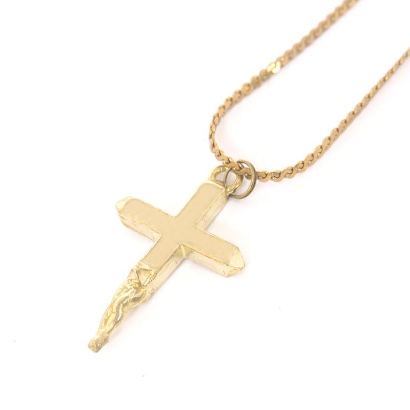 Jesus necklace typeb brass