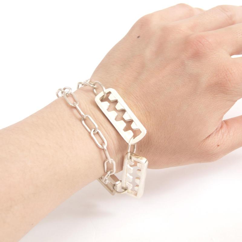 tooth bracelet-silver typeB