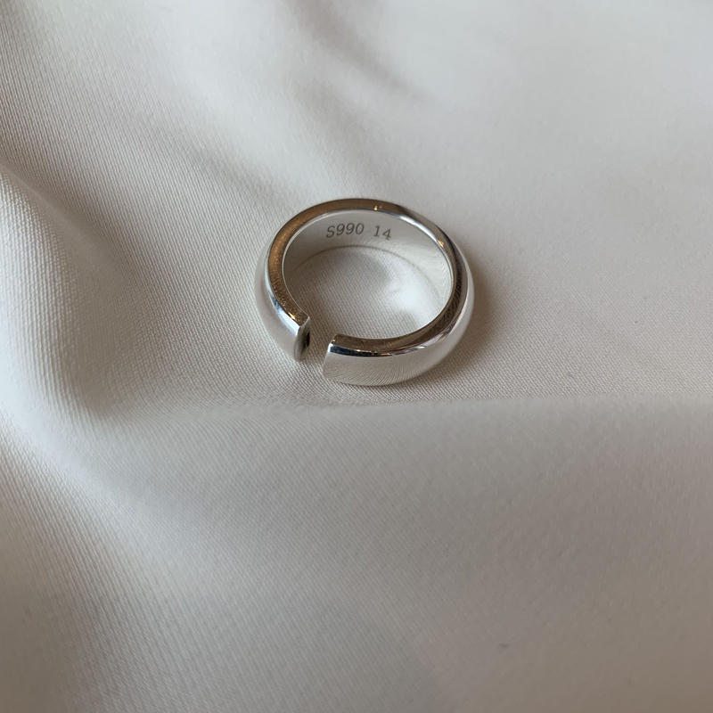 silver 990 round  ring