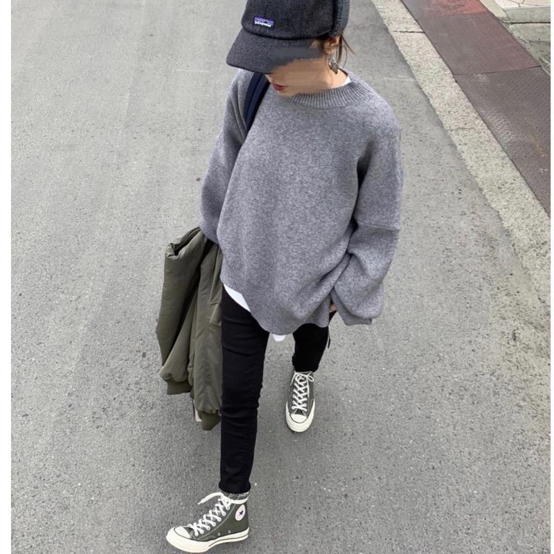 【sold out】オーバーサイズ ニット gray