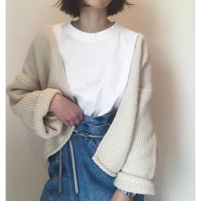 【sold out】ワッフルニットカーディガン