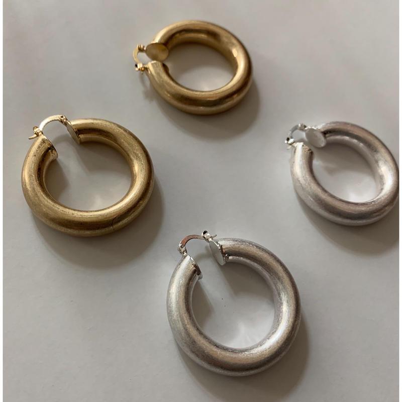 リングピアス  gold/silver  即納