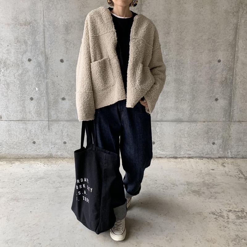 【sold out】フェイクシープボアJK リバーシブル