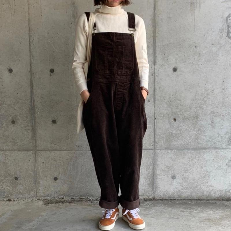 【sold out】コーデュロイ サロペット brown