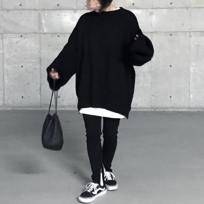 【次回2月初旬予約スタート】オーバーサイズニット black