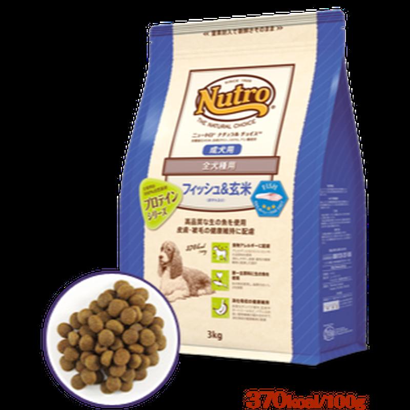 NATURAL  CHOICE 全犬種用 成犬用 フィッシュ&玄米 1㎏