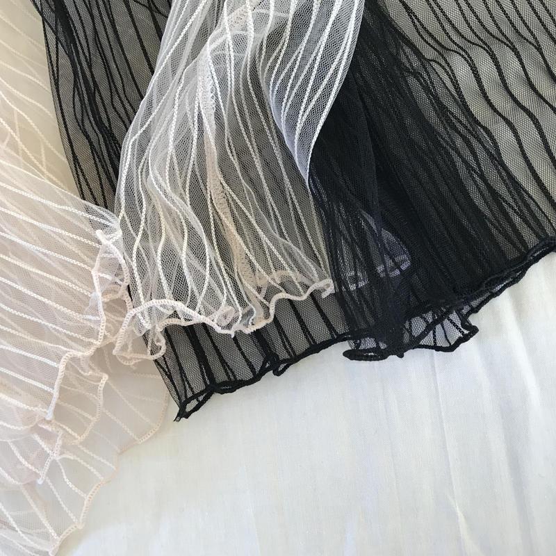 layered lace blouse