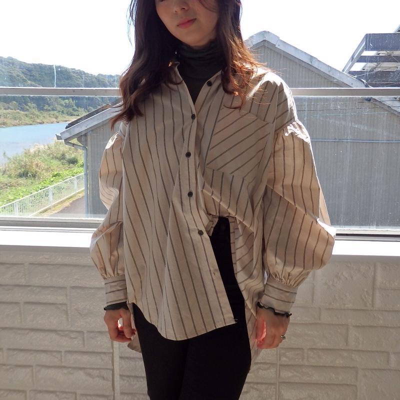 stripe khaki shirt