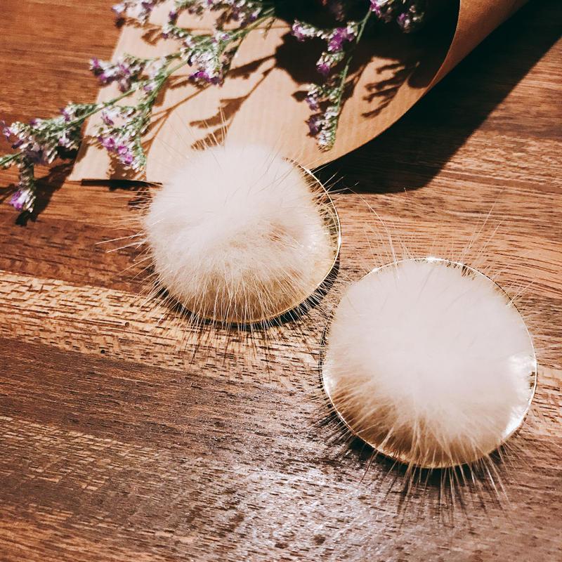mink fur earrings