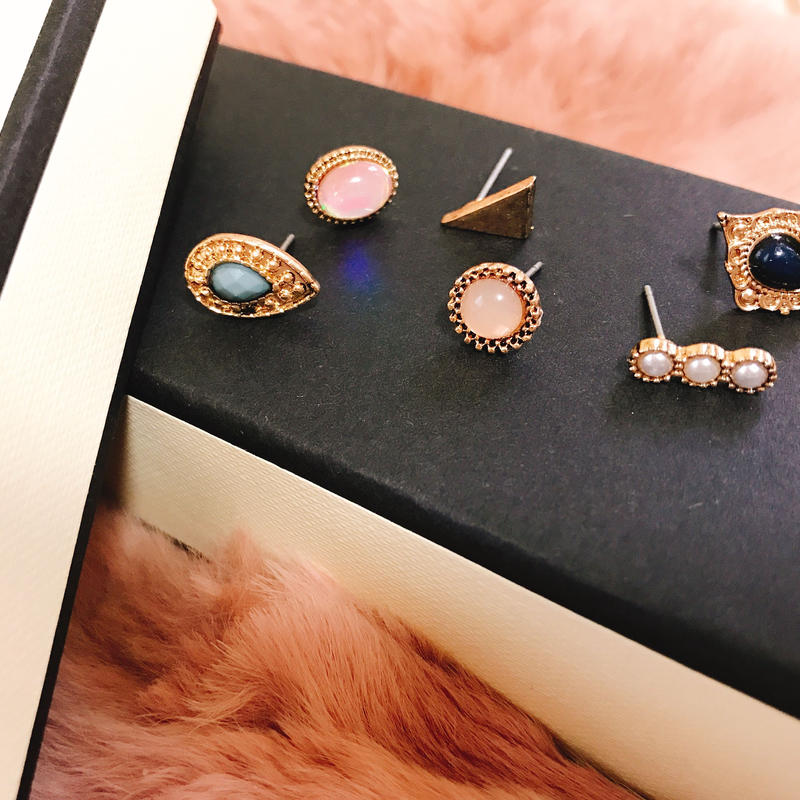 antique 6set earrings