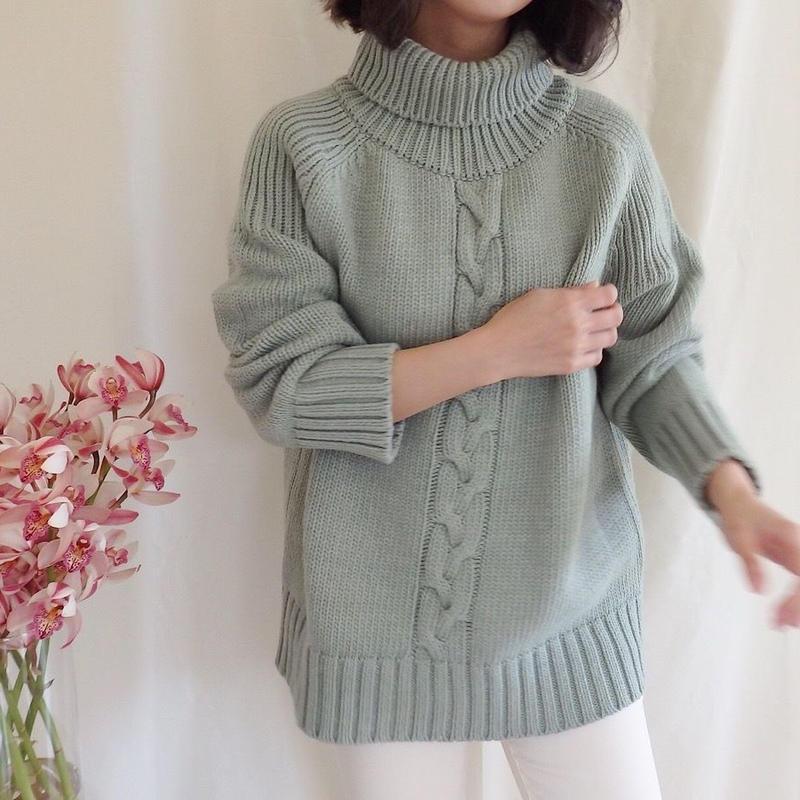 twist turtle knit