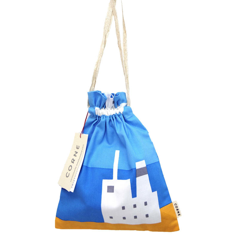 きんちゃく袋(SHIP/BLUE)
