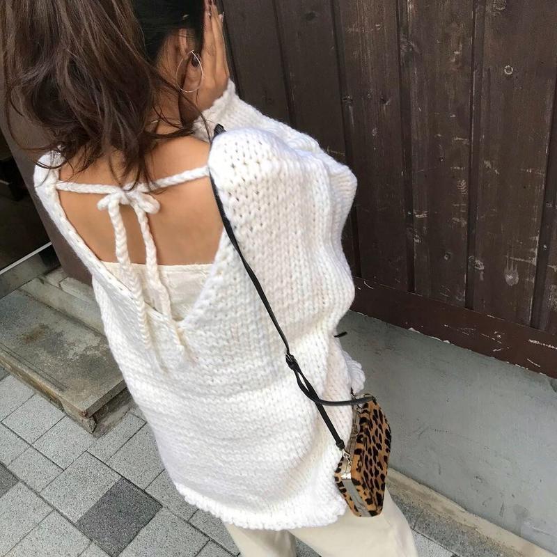handmade  reversible knit