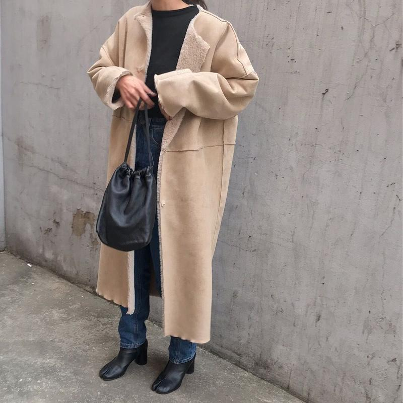 original longer reversible mouton coat