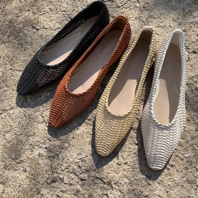 mesh flat shoes