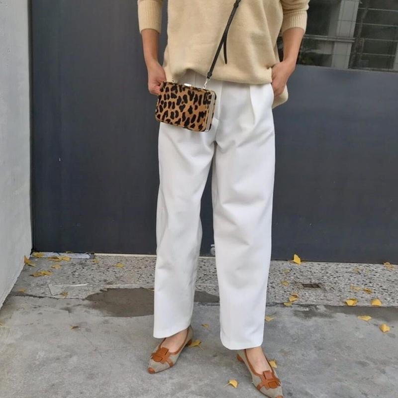 ivory slacks pants