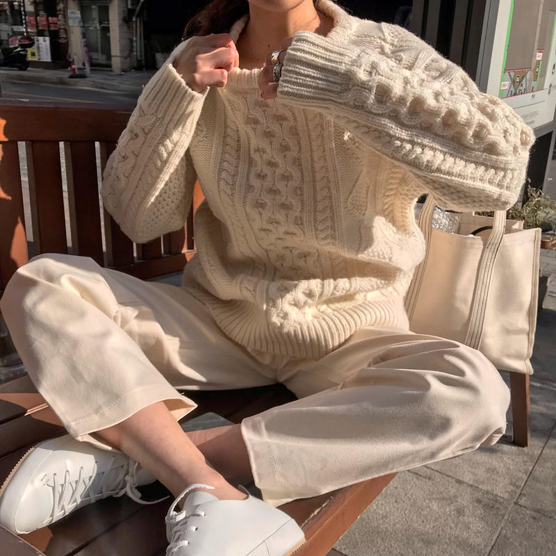 vintage cable knit