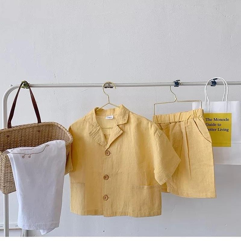 (予約)リネンシャツセットアップ