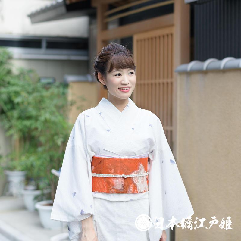 0231 夏着物(薄物) 小紋 絽 化繊
