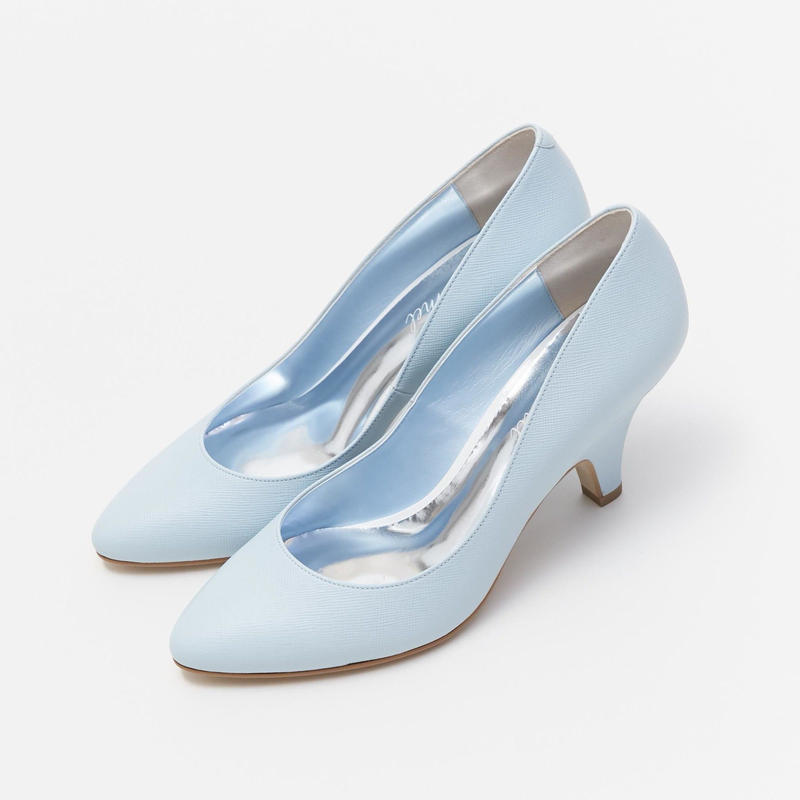 HALF WEDGE PUMPS - BLUE