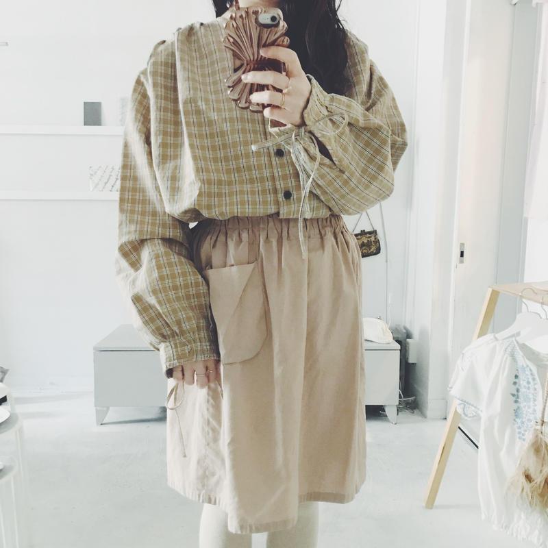 BELIZE  beige check blouse