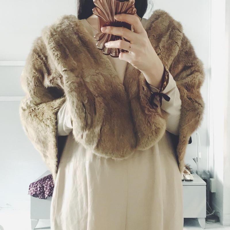 used fur cape