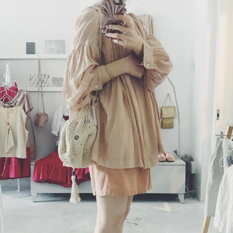 Shikica  cotton knit bag