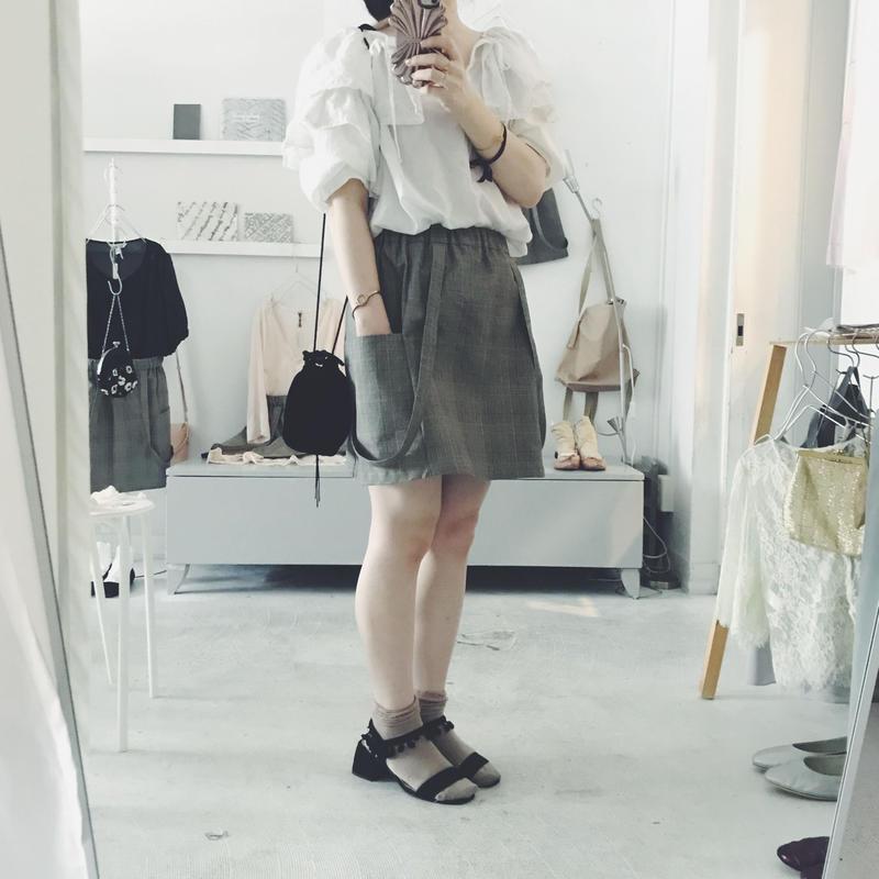 femmerobe別注 3tsuiさんの mini skirt