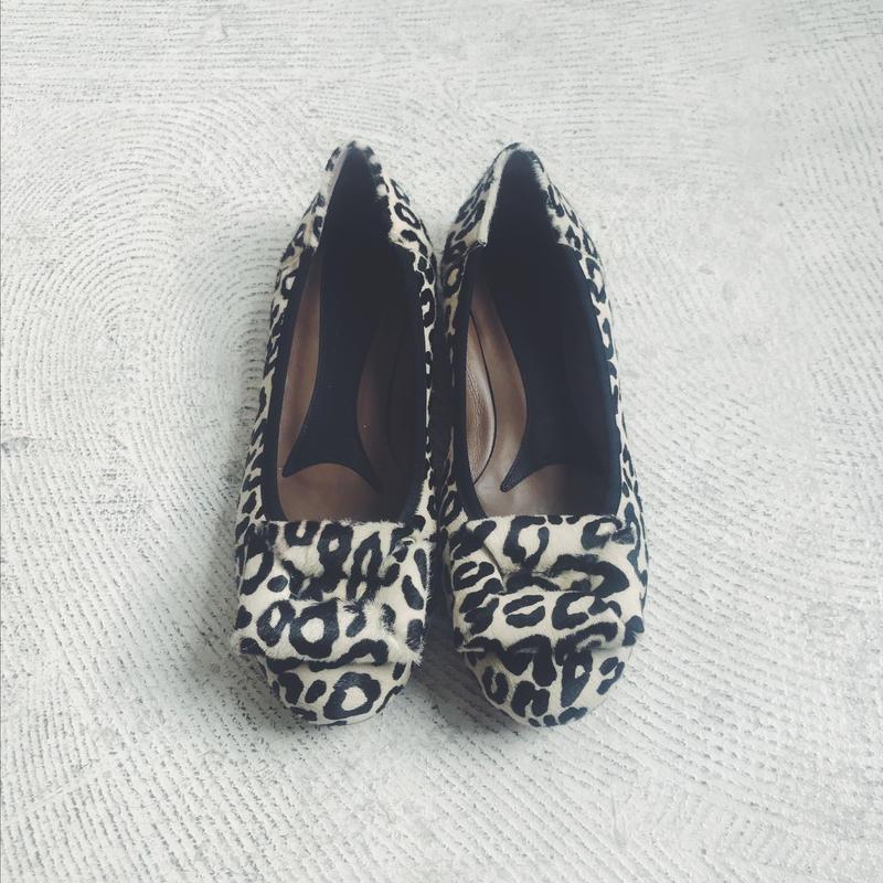 MARNI leopard pattern ballet shoes