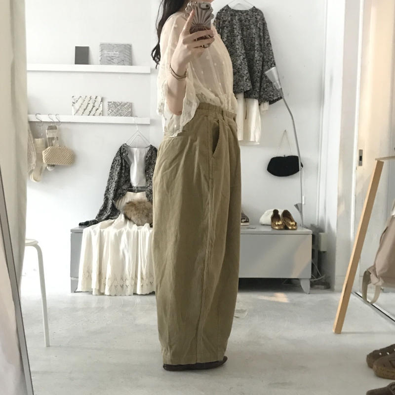 HARVESTY circus pants , corduroy サイズ 1