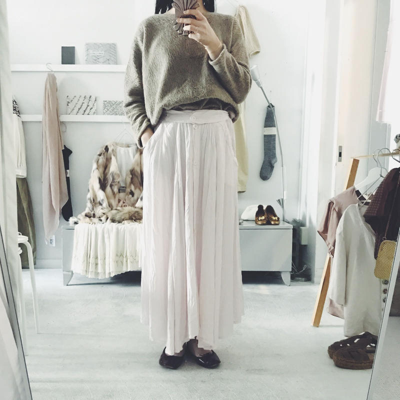 used pink long skirt